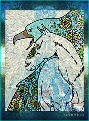 Mixed Media - Beautiful Companions by Wbk