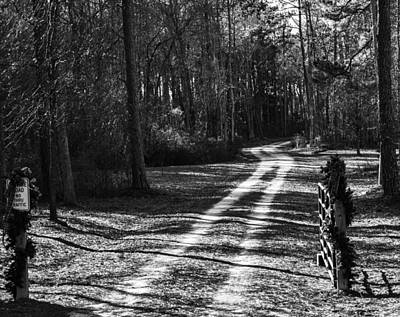 Photograph - Beautiful Country Road B  W by Roberta Byram