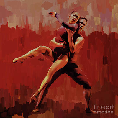 Painting - Beautiful Couple Dance 02 by Gull G