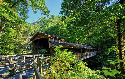 Youngstown Ohio Photograph - Beautiful Covered Bridge by Mountain Dreams