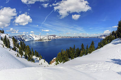Photograph - Beautiful Crater Lake by Mark Whitt