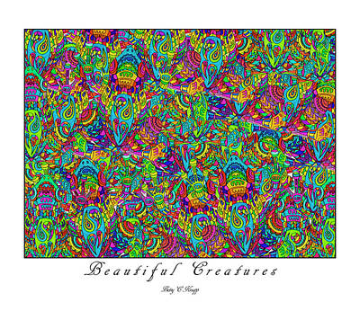 Hypnosis Mixed Media - Beautiful Creatures by Betsy Knapp