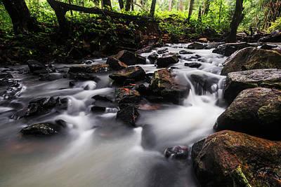 Photograph - Beautiful Creek In Western Ghats Region Of Karnataka State India by Vishwanath Bhat