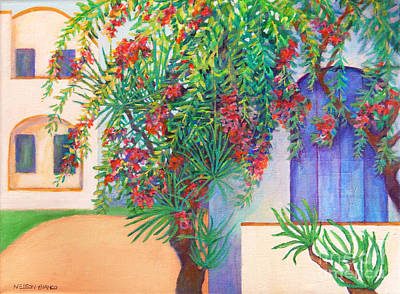 Beautiful Crete Home Original by Sharon Nelson-Bianco