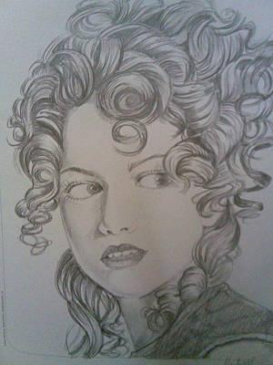 Beautiful Curls Art Print by Nischitha Shenoy