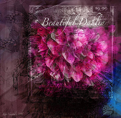 Digital Art - Beautiful Dahlia by Kari Nanstad