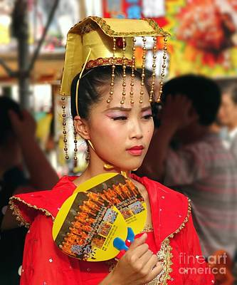 Photograph - Beautiful Dancer At The Third Prince Temple Festival by Yali Shi