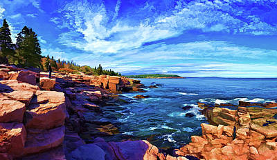 Digitally Manipulated Photograph - Beautiful Day At Acadia by ABeautifulSky Photography by Bill Caldwell
