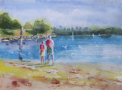 Painting - Beautiful Day At Camp Cove by Debbie Lewis