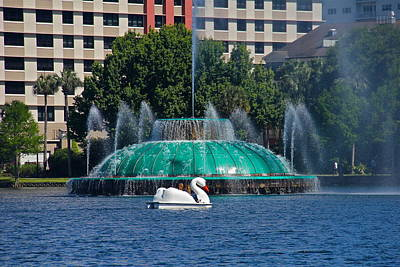 Photograph - Beautiful Day At Lake Eola by Denise Mazzocco