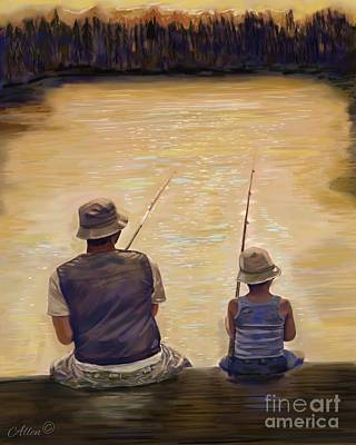 Painting - Beautiful Day Fishing by Leslie Allen