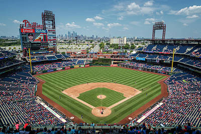 Lets Play Photograph - Beautiful Day For A Ballgame In Philly by Stephen Stookey