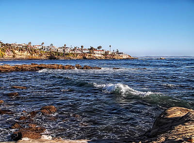 Brown Tones Digital Art - Beautiful Day In La Jolla by Glenn McCarthy Art and Photography