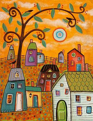 Naive Art Painting - Beautiful Day by Karla Gerard