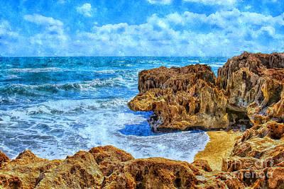 Beach Landscape Mixed Media - Beautiful Day by Olga Hamilton