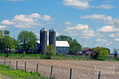 Photograph - Beautiful Day On A Wisconsin Farm by Kay Novy