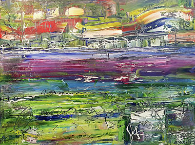 Painting - Beautiful Day On The River by Martin Bush