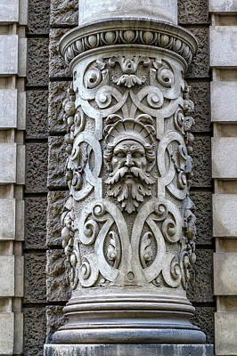 Photograph - Beautiful Decoration On A Building Facade In Vienna, Austria by Elenarts - Elena Duvernay photo