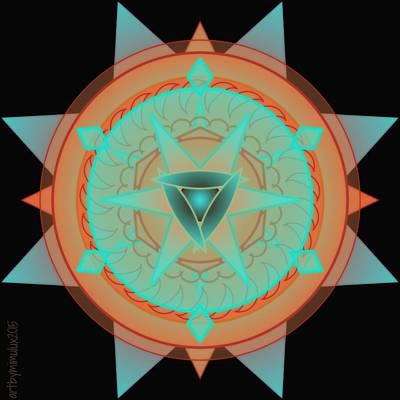Meditative Digital Art - Beautiful Desert Mandala by Mimulux patricia no No