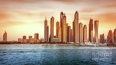 Photograph - Beautiful Dubai Cityscape by Anna Om