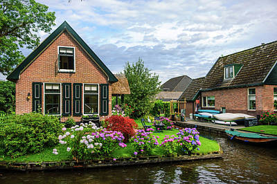 Photograph - Beautiful Dutch Town Giethoorn by Jenny Rainbow