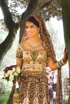 Beautiful East Indian Woman In Traditional Wedding Dress Original