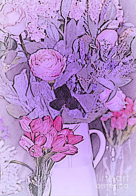 Mixed Media - Beautiful Easter Bouquet by Sherry Hallemeier