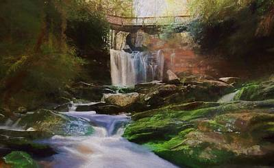 Mixed Media - Beautiful Elakala Falls by Dan Sproul