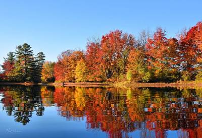 Androscoggin Photograph - Beautiful Fall Morning On The Androscoggin River by Jan Mulherin
