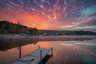 Photograph - Beautiful Fall Sunrise At Long Lake by Darylann Leonard Photography