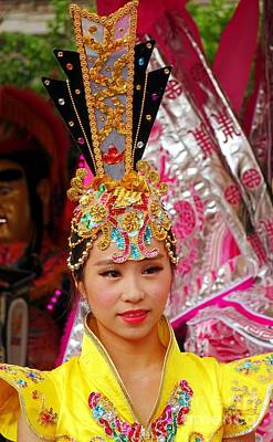 Photograph - Beautiful Female Dancer At The Third Prince Temple Festival by Yali Shi