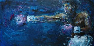 Jab Painting - Beautiful Fighter by Dan Campbell