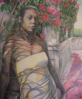 Beautiful Flower Art Print by Joyce McEwen Crawford