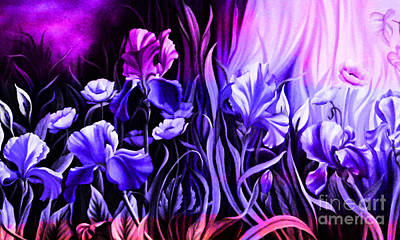 Abstract Landscape Painting - Beautiful Flowers  by Gull G