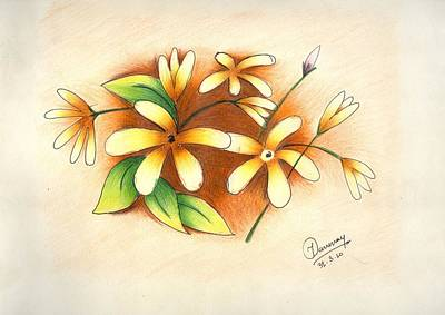 Beautiful Flowers Art Print by Tanmay Singh