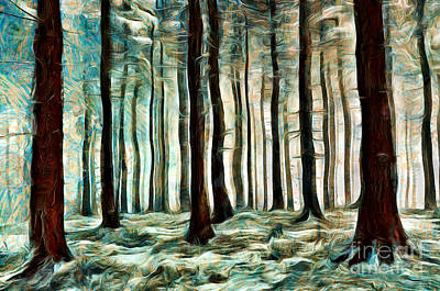 Painting - Beautiful Forest by Milan Karadzic