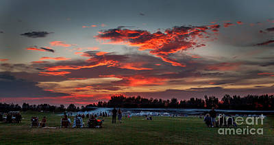 Haybales Photograph - Beautiful Fourth Of July Sunset by Robert Bales