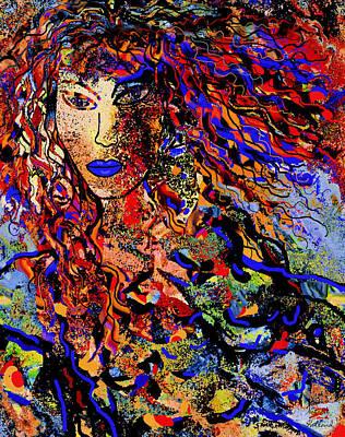 Lemon Mixed Media - Beautiful Free Spirit by Natalie Holland