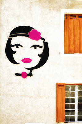 Photograph - Beautiful French Woman Graffiti by Georgia Fowler