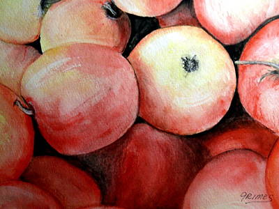 Painting - Beautiful Gala Apples by Carol Grimes