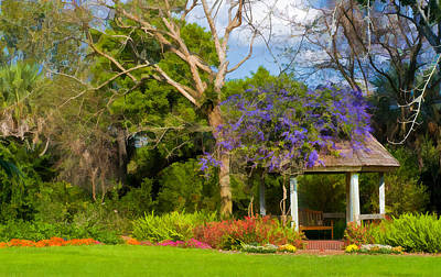 Photograph - Beautiful Garden Gazebo In Selby Gardens by Ginger Wakem