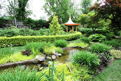 Photograph - Beautiful Garden With Pagoda by Trina Ansel