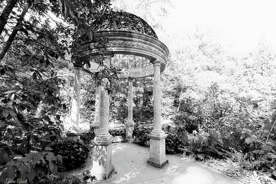 Photograph - Beautiful Gazebo In Black And White by Trina Ansel