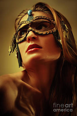 Photograph - Beautiful Gem Mask II Cvenetian Eye Mask by Dimitar Hristov