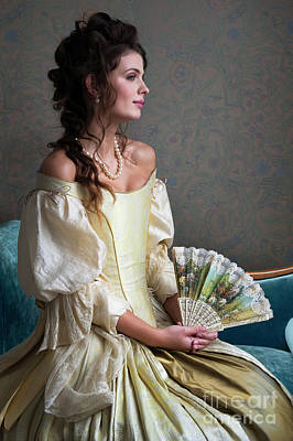 Photograph - beautiful Georgian woman in period dress by Lee Avison