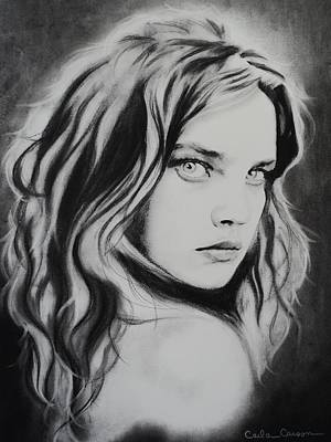 Drawing - Beautiful Girl by Carla Carson
