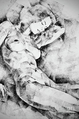 Drawing - Beautiful Girl Figure Drawing by Dimitar Hristov