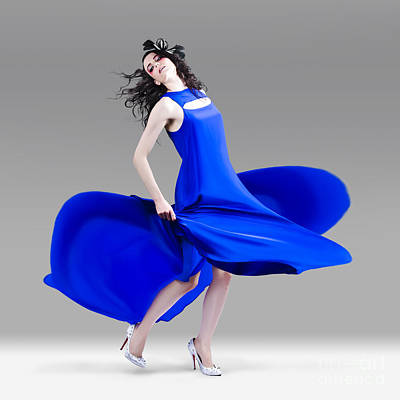 Photograph - Beautiful Girl In Exquisite Fashion Style Dance by Jorgo Photography - Wall Art Gallery