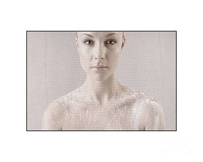 Photograph - Beautiful Girl's Face And Shoulders by Michael Edwards