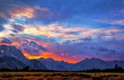 Photograph - Beautiful Grand Teton Sunset by Carolyn Derstine